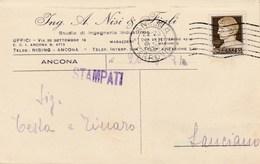 5757.   Ing. A. Nisi & Figli - Ingegneria Industriale - Ancona - Commerciale - 1931 Per Testa E Tinaro Lanciano - Commercio
