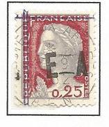 ALGERIE   N° 355 VARIETEE DE SURCHARGE / RF ANNULEE STYLO DOUBLE TRAIT OBL TB - Algérie (1924-1962)