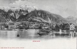 BÖNIGEN → Dampfschiff Vor Dem Anlegen, Alter Lichtdruck Anno 1903 - BE Bern