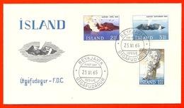 Iceland / Island / Islande 1965 - Surtsey, Volcanic Eruption, Volcano, Volcanoes, Volcan, Vulkan, Geology FDC - FDC