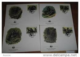 Rwanda Ruanda OCBnr. 1227-30 FDC Cote 27,50 Euro Faune Gorilles Gorillas - Rwanda