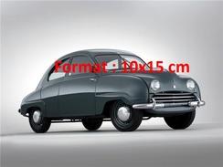 Reproduction D'une Photographie D'une Belle Saab 92 De 1950 - Reproductions