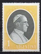 Argentine - 1959 - Yvert N° 597 ** - Pape Pie XII - Nuevos