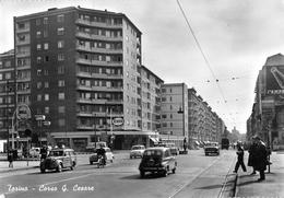 """05264 """"TORINO-CORSO G. CESARE"""" ANIMATA, AUTO, DISTRIB. ESSO- SHELL, VERA FOTO, SACAT 1218. CART NON SPED - Italie"""