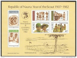 Nauru 1982 Yvertn° Bloc 5  *** MNH Cote 25 FF Scoutisme - Nauru