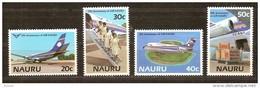 Nauru 1985 Yvertn° 301-304  *** MNH Cote 40 FF Avions Vliegtuigen - Nauru