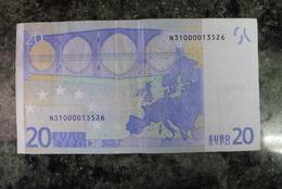 RARE 20 EURO N AUSTRIA DUISENBERG F001A3 Serial N31000013526 - EURO