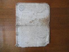1750 G.D.E DIJON DIX DEN.(4) ET G.D.CHALONS UN S. 4 DEN. (2) - Cachets Généralité