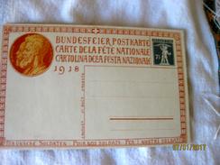 Switzerland: Carte De La Fête Nationale Pré-timbrée 1918 - Altri