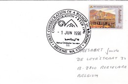 Omslag Uit BROOME => ROESELARE / Bijzondere Afstempeling : 1ste Bisschop In Broome - 1854-1912 Western Australia