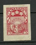 Latvia Lettland 1923 Michel 93 U ARCHIVE PROOF Probedruck Essay - Lettonie