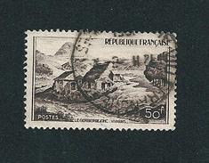 N° 843 Mont Gerbier De Jonc Vivarais 50frs Brun Violacé 1949 Oblitéré France - France