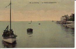 LE CROTOY LE CANOT AUTOMOBILE CARTE TOILEE - Le Crotoy
