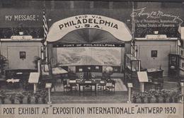 Antwerpen Expo 1930 Wereldtentoonstelling Port Of Philadelphia Publicity Reclame Pub Pennsylvania ZELDZAAM RARE Postcard - Expositions