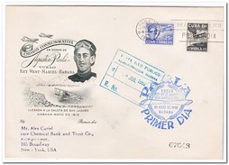 Cuba 1952, Letter From Habana To New-Tork - Luchtpost