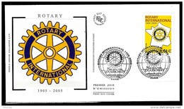 FRANCE 3750° Centenaire Du Rotary Enveloppe 1er Jour - Rotary, Lions Club