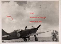1 Photographie Originale  Dewoitine D 520 Tampon Officiel  Guerre Armée De L'air 1939-1940 - Aviazione
