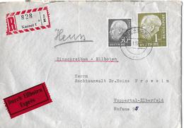 KASSEL - WUPPERTAL → EXPRESS/EINSCHREIBEBRIEF Privatpost Dr. Erich Reimann Kassel - [7] République Fédérale