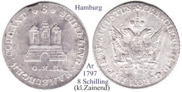 DL-1797, 8 Schilling, Hamburg - Small Coins & Other Subdivisions