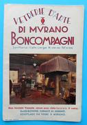 MURANO - ARTISTIC GLASS - Italy Antique Prospectus Before WW2 ** Venice Map ** Venezia Italia Vetrerie D'arte Di Murano - Advertising