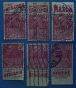 France 1930 : Exposition Coloniale Internationale De Paris Avec Bande Publicitaire Lot De 6 Timbres N° 272 Oblitéré - Publicités