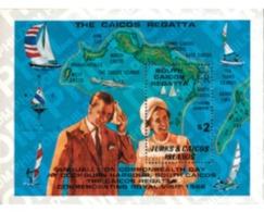 Ref. 48113 * MNH * - TURKS AND CAICOS Islands. 1980. REGATTA . REGATA - Coquillages