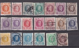BELGIQUE - N°Y&T - Série 190/210 - Les 20 Valeurs - Albert 1er - Oblit Cad - 1922-1927 Houyoux
