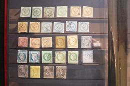 Lot 28 Timbres Colonies Aigle  Sage Ceres ... Pour étude , Cachet Martinique Sur 1 - France (ex-colonies & Protectorats)