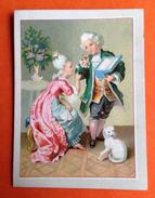 Amidon Hoffmann Chat Blanc Cat Jolie Chromo Couple Perruque XVIII ème Galanterie - Trade Cards