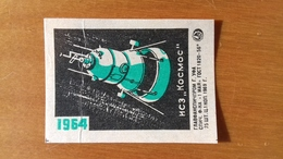 SPACE RACE VINTAGE URSS ALLLUMETTES - MATCH BOX COVER. - Other