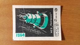 SPACE RACE VINTAGE URSS ALLLUMETTES - MATCH BOX COVER. - Snoepgoed & Koekjes