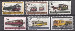 Berlin 1971 Mi.Nr: 379-384 Schienenfahrzeuge Oblitere / Used / Gebruikt - Gebruikt