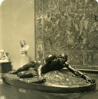 Belgique Bruxelles Musée De Sculpture Van Hove La Vengeance Ancienne Photo Stereo NPG 1900 - Photos Stéréoscopiques
