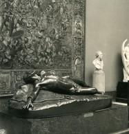 Belgique Bruxelles Musée De Sculpture Van Hove Esclave Ancienne Photo Stereo NPG 1900 - Photos Stéréoscopiques