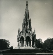 Belgique Laeken Monument Du Roi Leopold I Ancienne Photo Stereo NPG 1900