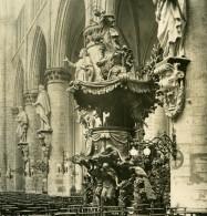 Belgique Bruxelles Cathedrale Sainte Gudule La Chaire Ancienne Photo Stereo NPG 1900 - Stereoscopic