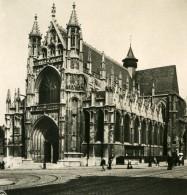 Belgique Bruxelles Eglise Notre Dame Du Sablon Ancienne Photo Stereo NPG 1900 - Stereoscopic