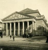 Belgique Bruxelles Brussels Théatre De La Monnaie Ancienne Photo Stereo NPG 1900 - Stereo-Photographie