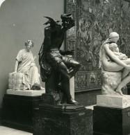 Belgique Bruxelles Musée De Sculpture Brunin Pigeons De St Marc Ancienne Photo Stereo NPG 1900