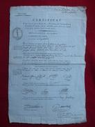 GENERAL ROHAULT FLEURY HUBERT 1794 AUTOGRAPHE CERTIFICAT SECTION LE PELLETIER SIGNATURES - Historical Documents