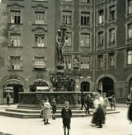 Allemagne Munich Fontaine Fortuna Brunnen Ancienne Photo Stereo NPG 1900 - Stereoscopic