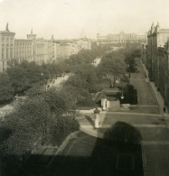 Allemagne Munich Avenue Maximilien München Ancienne Photo Stereo NPG 1900 - Stereoscopic