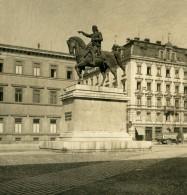 Allemagne Munich Statue De Maximilien I München Ancienne Photo Stereo NPG 1900 - Stereoscopic
