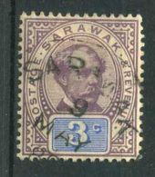SARAWAK (  POSTE ) : Y&T  N° 11  TIMBRE  TRES  BIEN  OBLITERE , A  VOIR . - Sarawak (...-1963)