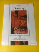 3018 - Suisse Vaud  Gamay 1997 Agiez Côtes De L'Orbe André Poget - Etiquettes