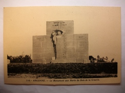 Carte Postale Argonne (55)Le Monument Aux Morts Du Bois De La Gruerie  (Petit Format Non Circulée ) - Other Municipalities