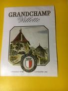 3026 - Suisse Vaud Grandchamp Villette Propriété De La Commune De Payerne - Etiketten