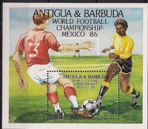 1986 Antigua & Barbuda  Mi.Bl 106**MNH  Fußball-Weltmeisterschaft, Mexiko - Algerije (1962-...)