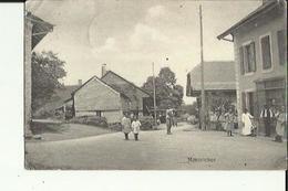 Montricher  (Vaud)  La  Rue Du Village Bien Animée Et  Epicerie - VD Vaud