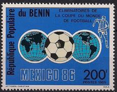 1985 Benin Mi. 404 **MNH  Ausscheidungsspiele Zur Fußballweltmeisterschaft 1986, Mexiko - Bénin – Dahomey (1960-...)